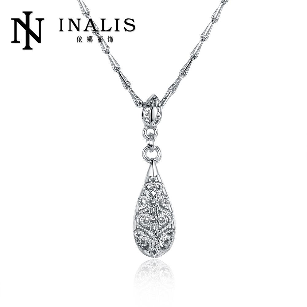 Perhiasan 18 K Grosir Mawar Emas Kalung Produsen Daftar Baru Tetes Air Gaya Retro N751