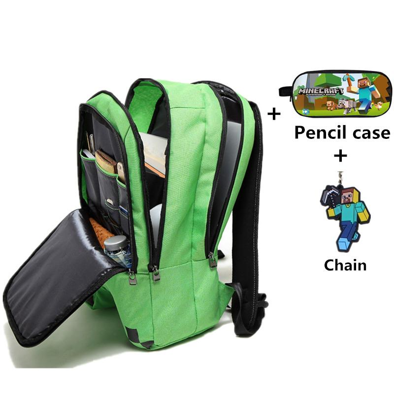 d13599d15513 Fashion Minecraft Backpack Children School Bags Sac A Main Backpacks For  Teenager Boys Girls Minecraft pencil