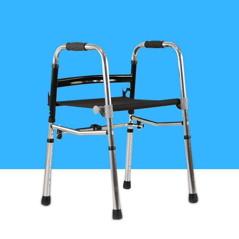 Aluminum Alloy the Aged Old People Walker Aid Stroke Hemiplegia Rehabilitation Four-legged Frame