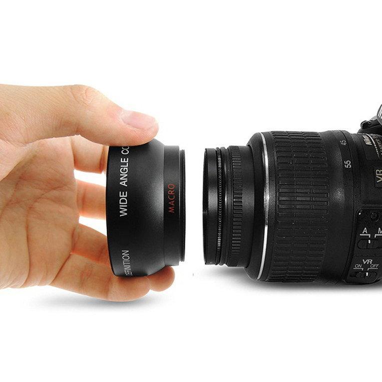 52 Mm 0.45 X Makro Sudut Lebar Lensa untuk Nikon D3200 D3100 D5200 D5100