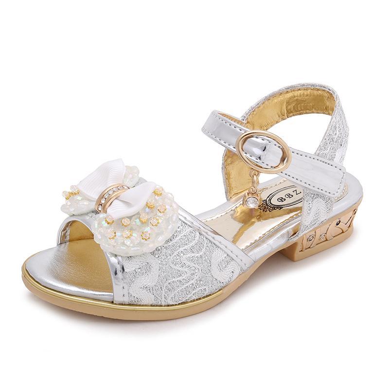 Anak-anak Sandal Summer 2018 Musim Panas Model Baru Sepatu Anak Perempuan Besar Perawan Sepatu