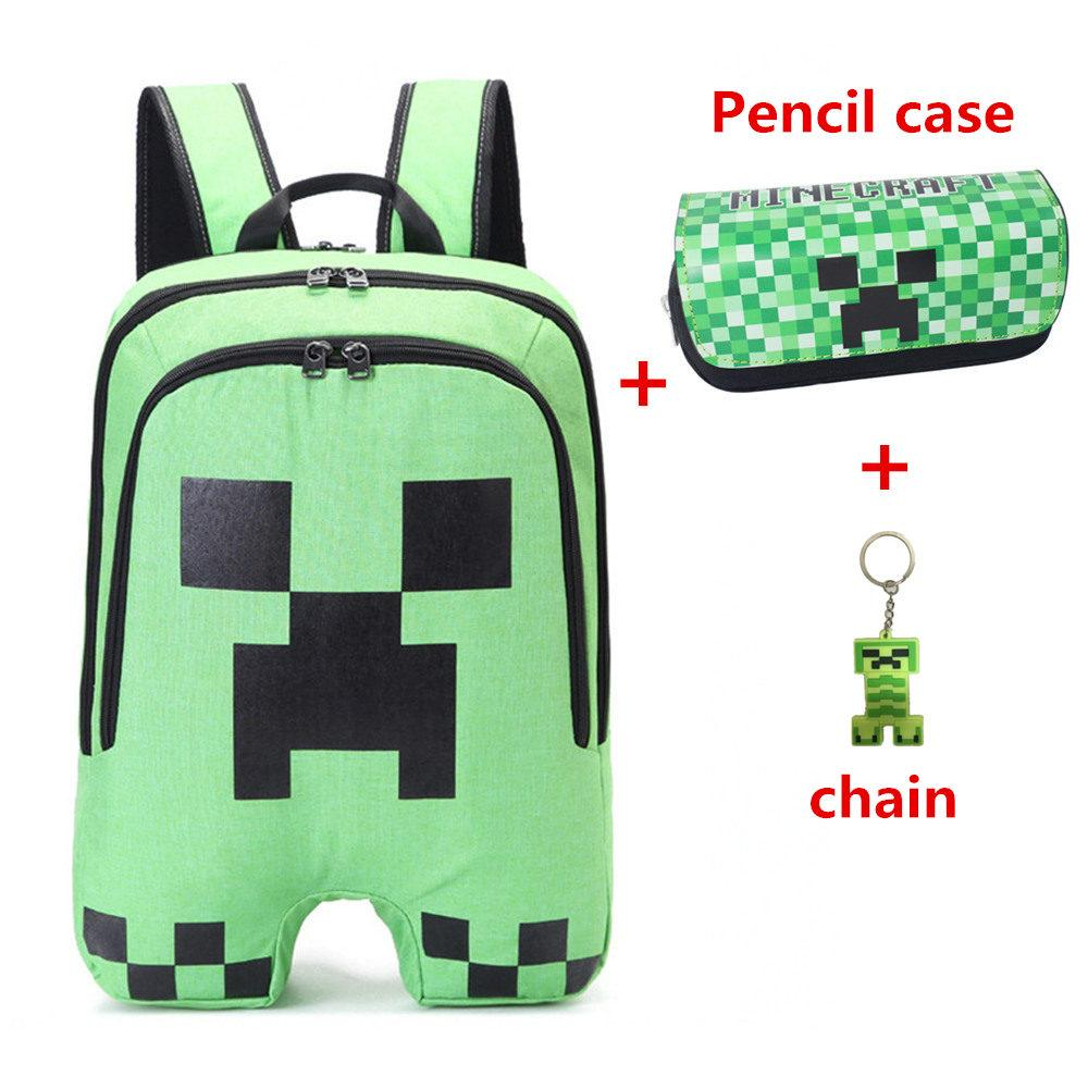 17a43545987d Fashion Minecraft Backpack Children School Bags Sac A Main Backpacks For  Teenager Boys Girls