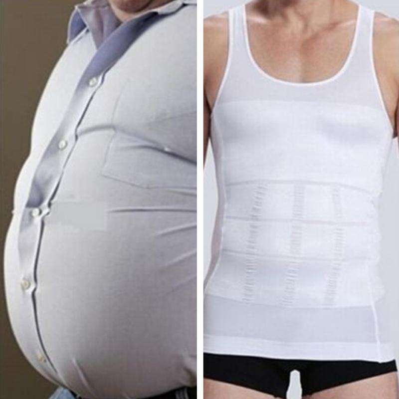94a4c8a283 New Handsome Tunic Gentleman Men Bodysuit Slimming Tummy Shaper Belly Underwear  Shapewear Waist Girdle Vest Shirt