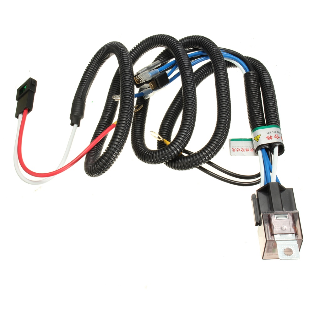 Car Horn Relay Wiring Harness Kit For Grille Mount Blast Tone Horns Universal Wire Specifications Voltage 12v Dc Material Plastic And Metal Color Black Blue Red Size As The Pictures Shown Overall Cable Length Approx170cm