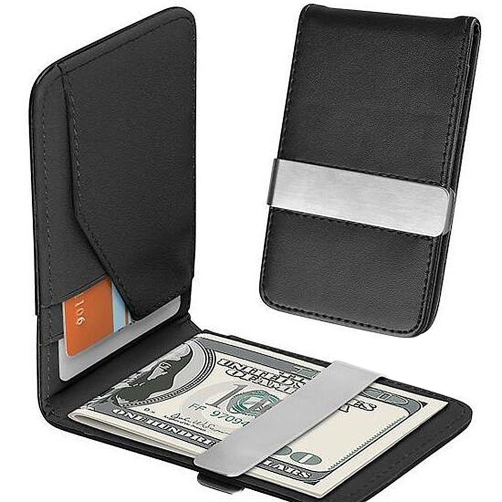 Four slots hold your most important IDs and credit cards. Space-saving design, fits in your shirt or jacket pocket. Package Includes: 1 x Money Clip
