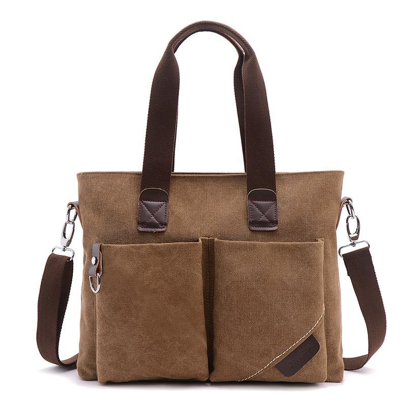 Canvas Bag Mens Handbag Simple Leisure Business Briefcase Mens Bag Versatile Trend of Fashion Crossbody Bag