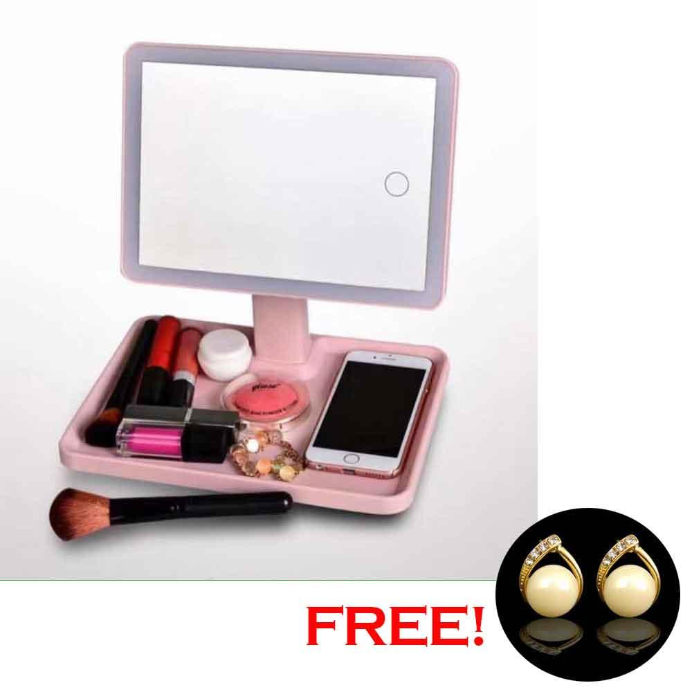 Adjustable LED Light Vanity  Make Up Mirror with FREE Pearl Earrings Philippines