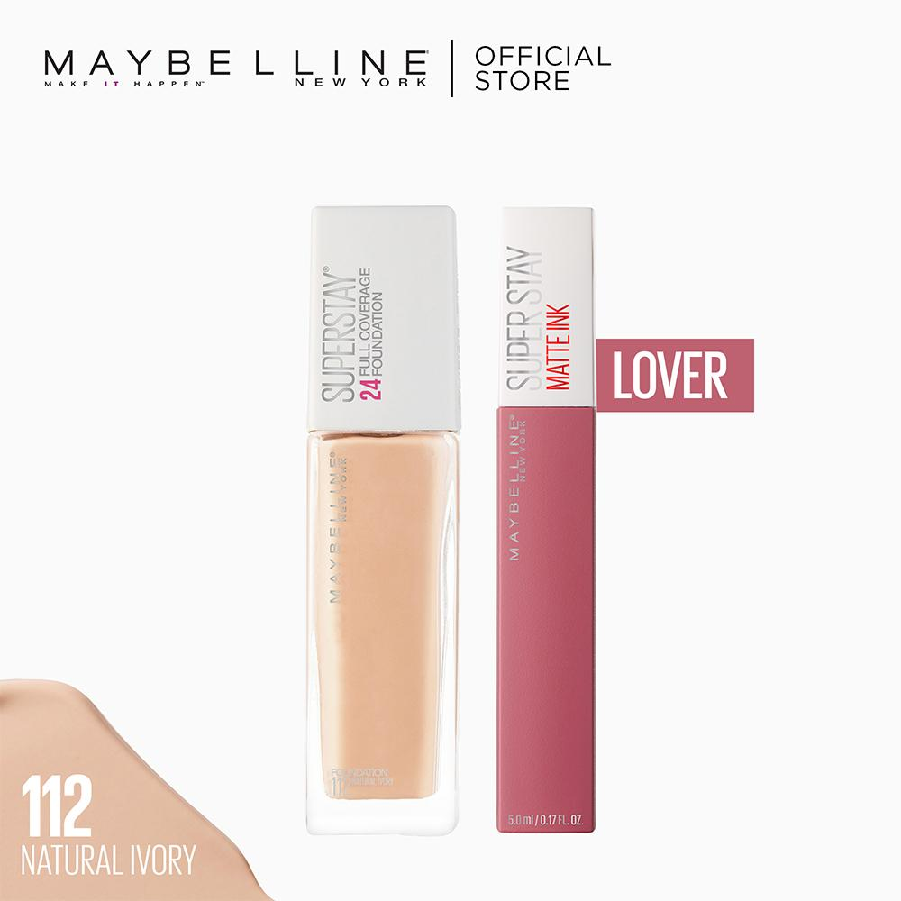 Superstay All Day Makeup Set: Superstay Foundation + Superstay Matte Ink Lover by Maybelline Philippines