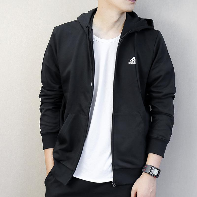 c0717e8e0023 Adidas Coat Male 2019 Autumn And Winter New Style Hooded Sports Clothing  Jacket Leisure Coat CV8513