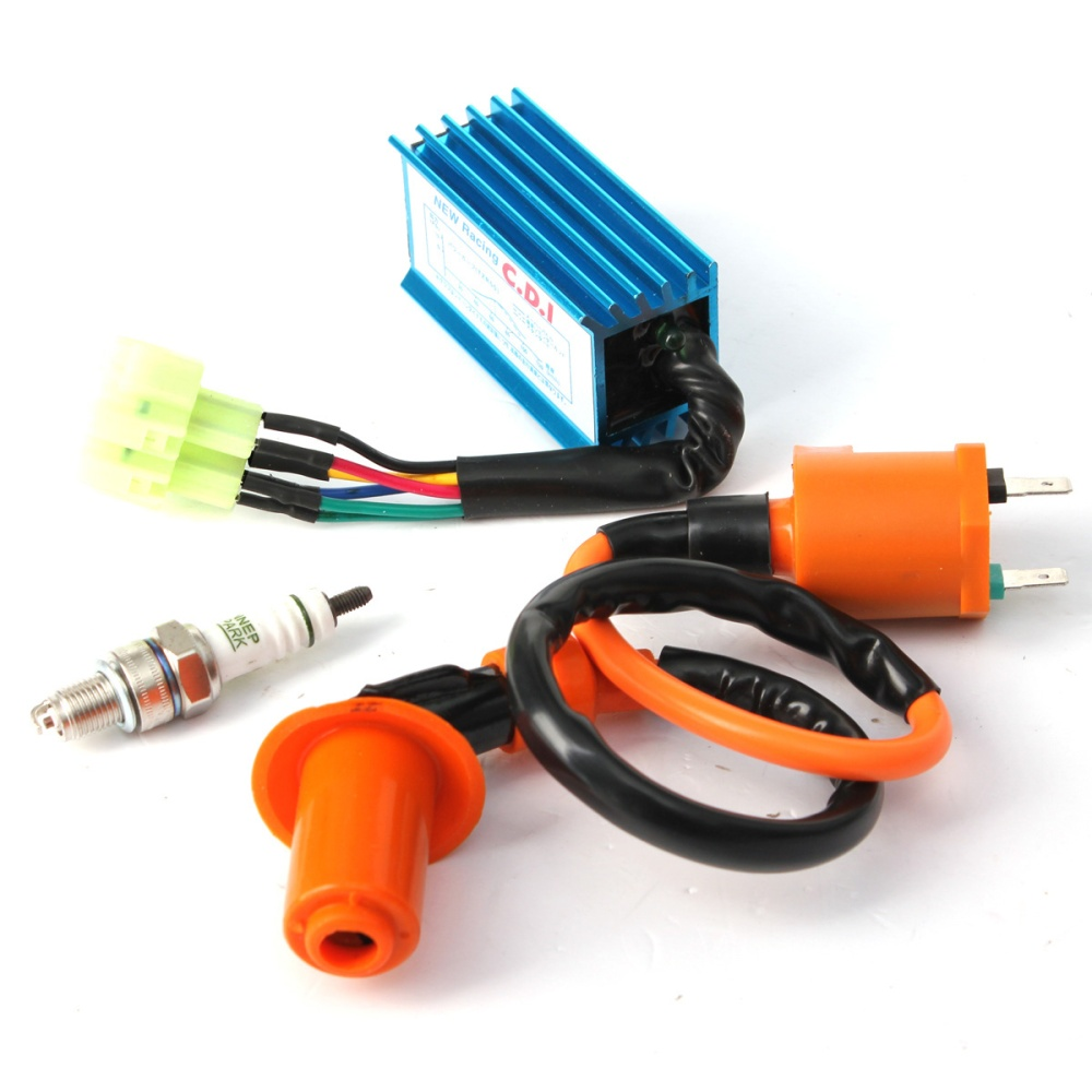 Racing Ignition Coil Spark Plug Cdi Box For Gy6 50cc 150cc 4 Stroke Wiring Wire Length 16 This Can Improve Combustion Efficiency Strengthen Electrical Performance Match Up Exactly With Original Equipment In