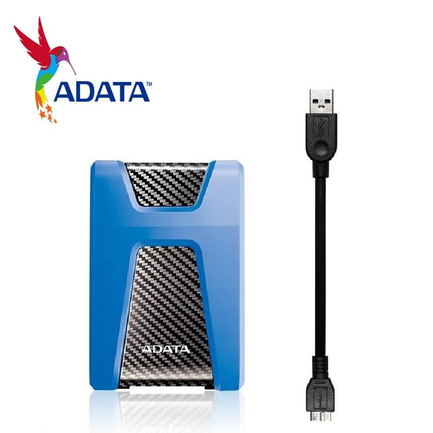 ADATA HD650 ShockProof 1TB External Hard Drive USB 3.0 (Blue) with 3 Years Warranty