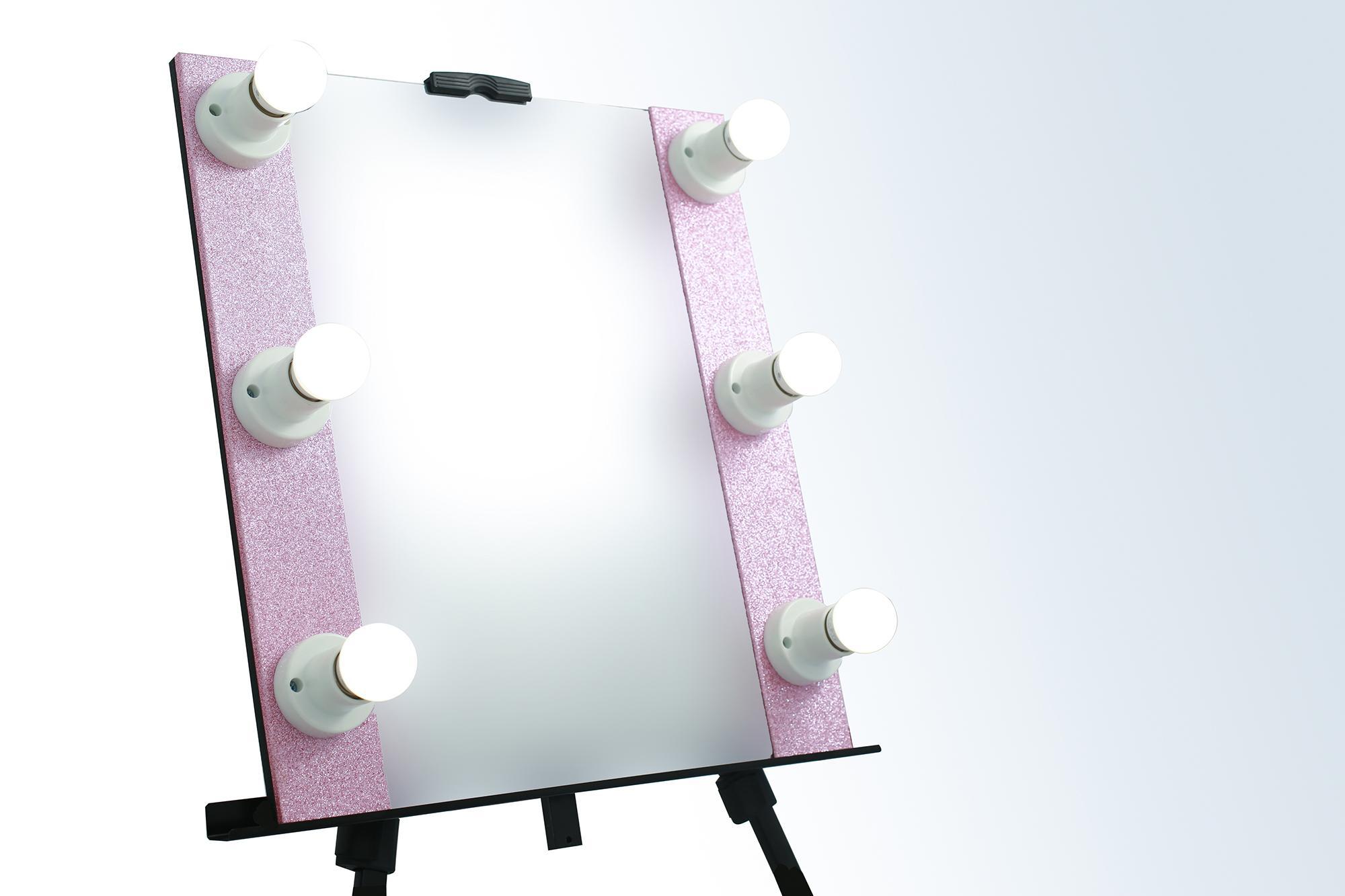 Portable Vanity Mirror - Glitter Pink Philippines