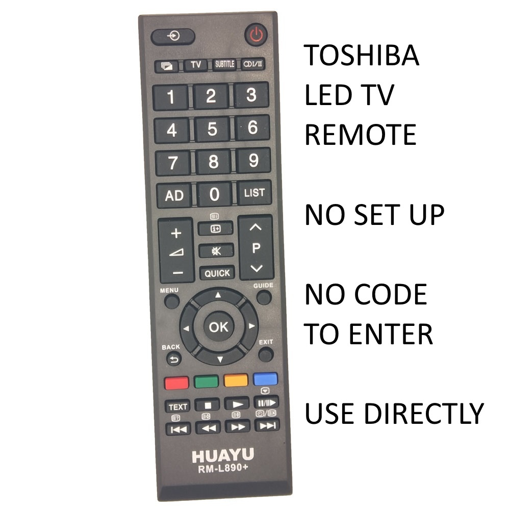 Huayu RM-L890+ Toshiba LCD/LED TV Remote Control with Multi Media Control