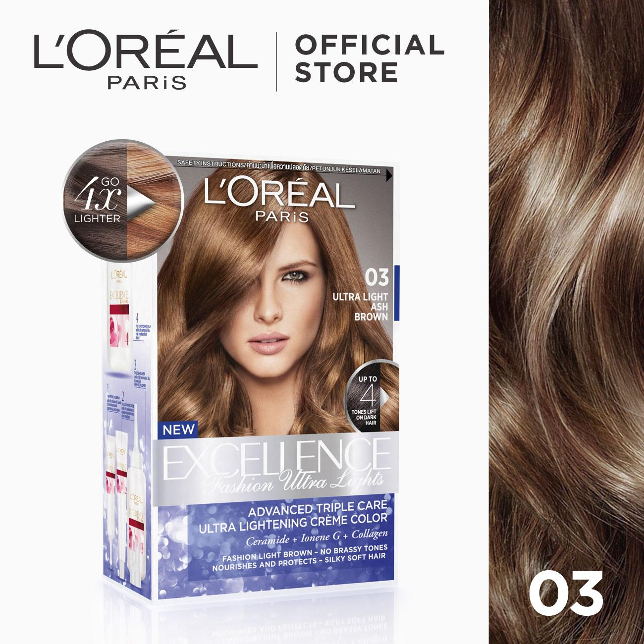 Hair color brands hair dye on sale prices set reviews in excellence fashion ultra lights 03 ash brown worlds no1 by l solutioingenieria Choice Image