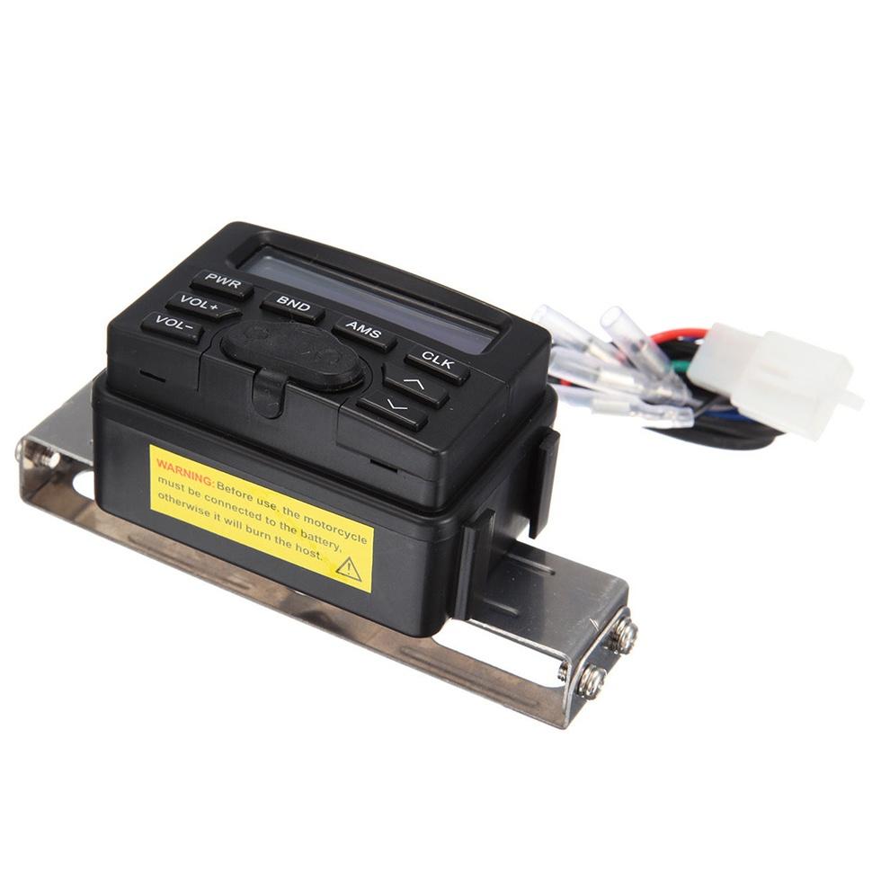 FM Band Specifications: Range: 87.5 - 108.5(MHz) Sensitivity:<26dB. Distortion:<0.5% SNR: >58db. General Radio Specifications: Working voltage: 10 - 16V DC