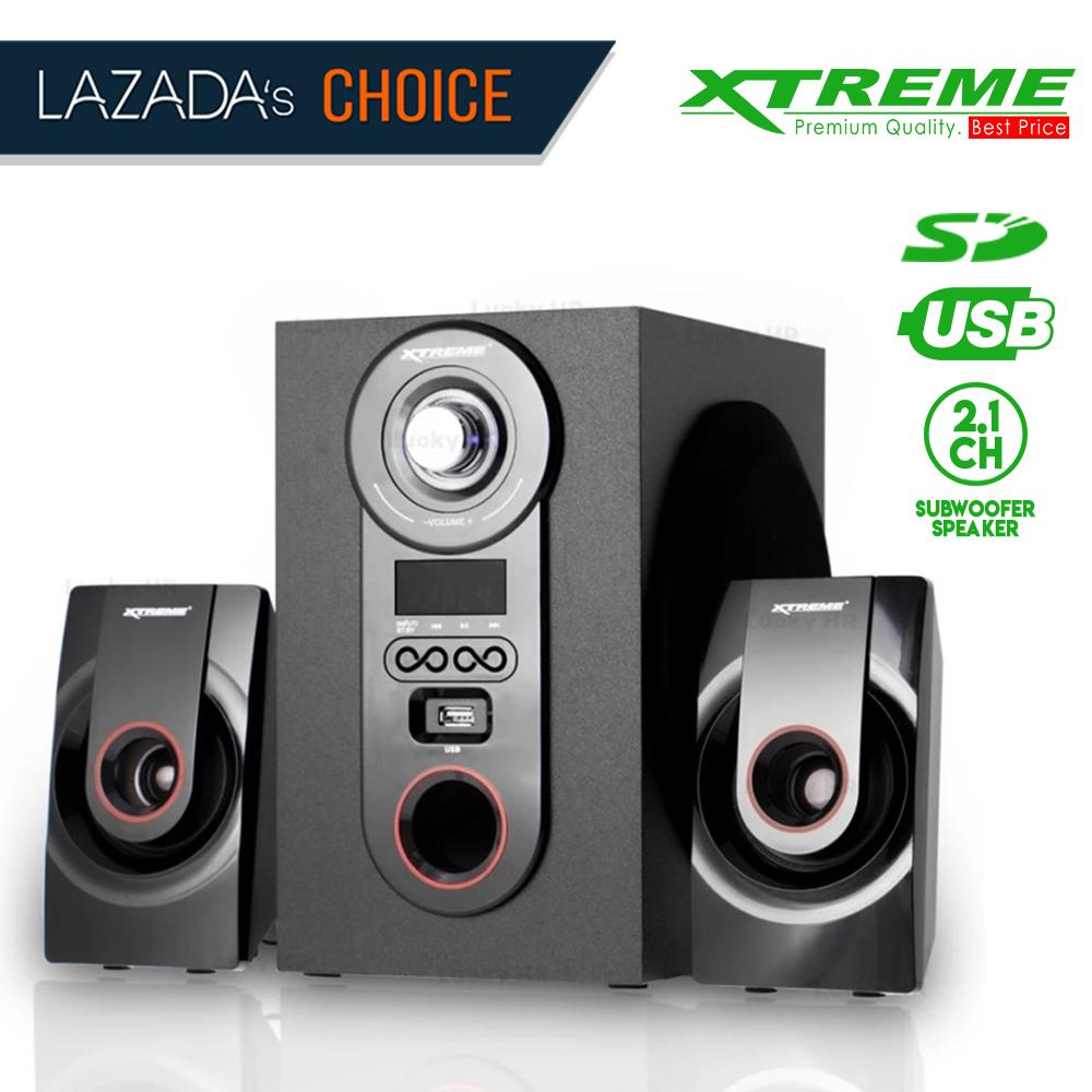 Xtreme Xp 2000 Dynamic Duo 21ch Multimedia Speaker System Black