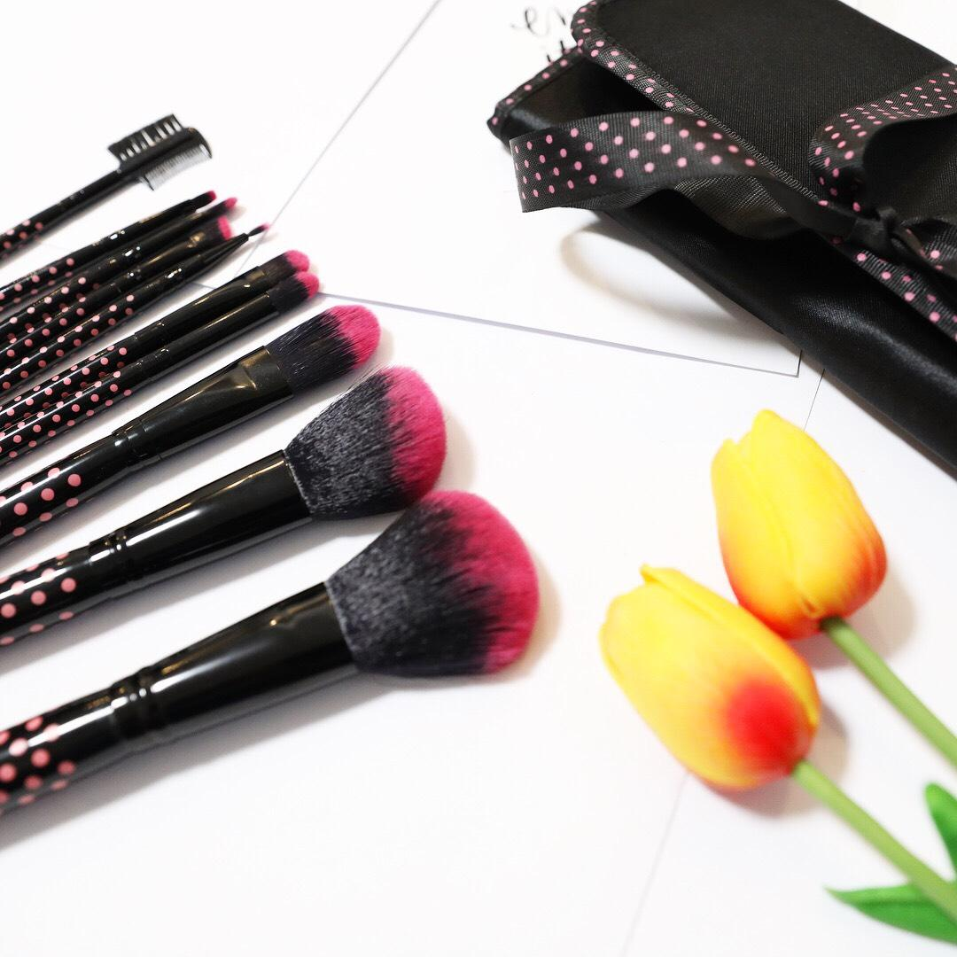 Buy Sell Cheapest 10 Pcs Bags Best Quality Product Deals Fr207 Set Pro Makeup Brush Cosmetic Make Up Brushes Kit Pouch Bag