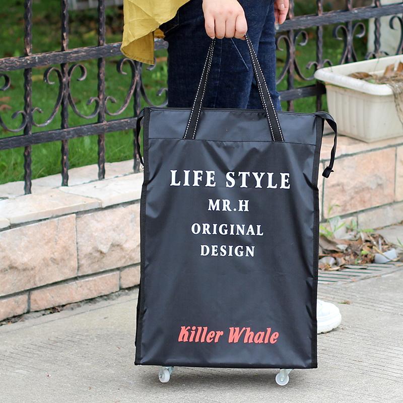 ea1a21d53 Korean Style Foldable Universal Wheel Travel Bag Luggage Light Waterproof  Large Capacity Handbag Men And Women