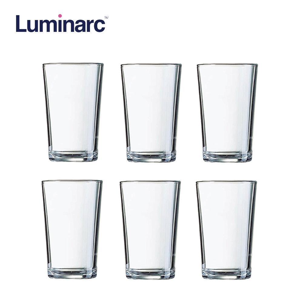 Luminarc Conique Hi Ball Heat Resistant and Dishwasher Safe Drinking Water Juice Glass Tumbler 28cl 6pcs