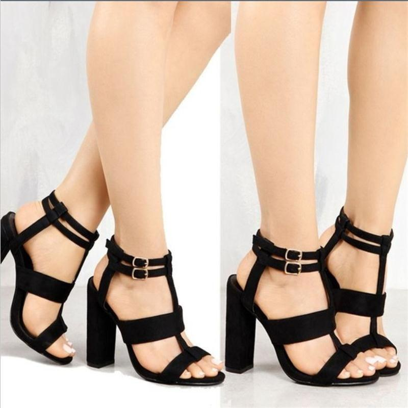 7d10dd0ecfd4 New Style Womens Ankle Strap Open Toe Party Dress Shoes High Heels Pump  Block Sandals -
