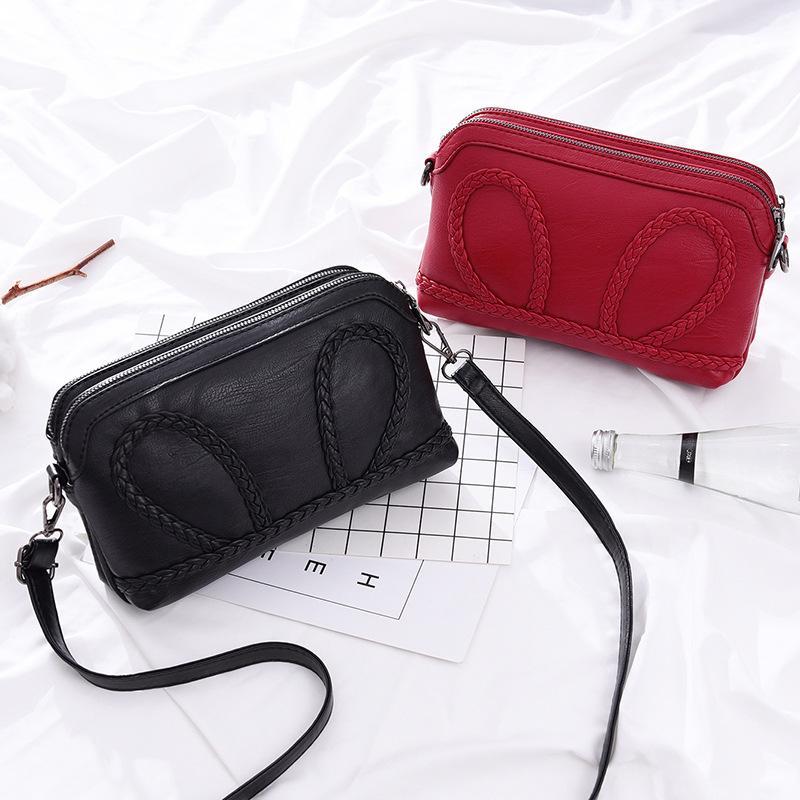 ... Tas kulit lembut Tas perempuan 2019 model baru Versi Santai Korea  selempang tas kecil banyak lapis ... e0f0ec7445