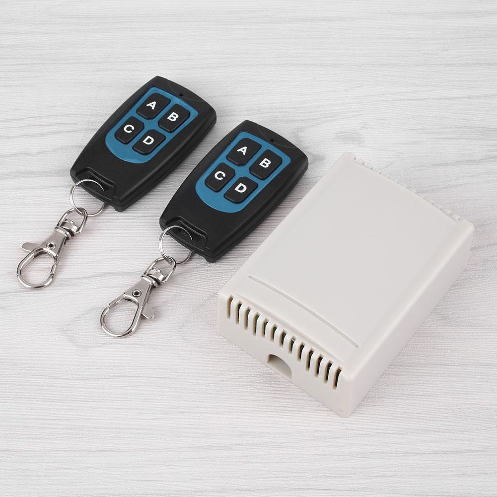 12V 4CH 100M Wireless Remote Control Relay Switch 2 Transceiver +Receiver