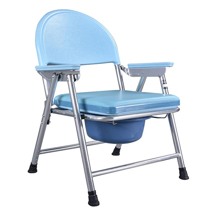 The Aged Old Man Sick Patient Pregnant Woman Aluminum Alloy Movable Foldable Handicapped Disabled Personcommode Chair
