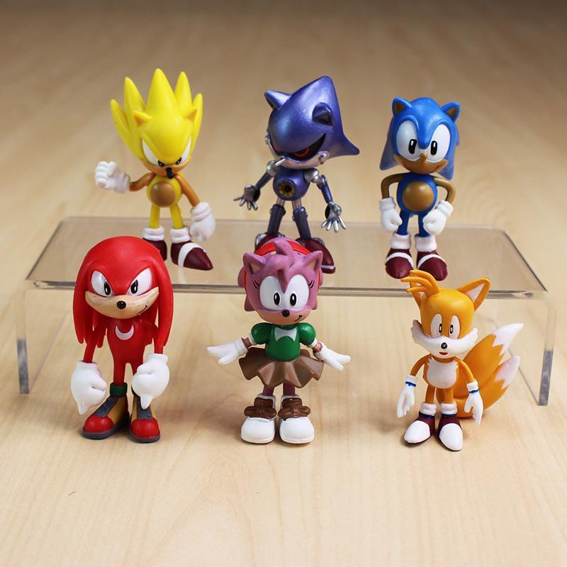 6 Pcs/set 7 Cm Figure Toy Pvc Mainan Bayangan Sonik Ekor Karakter Sosok Mainan