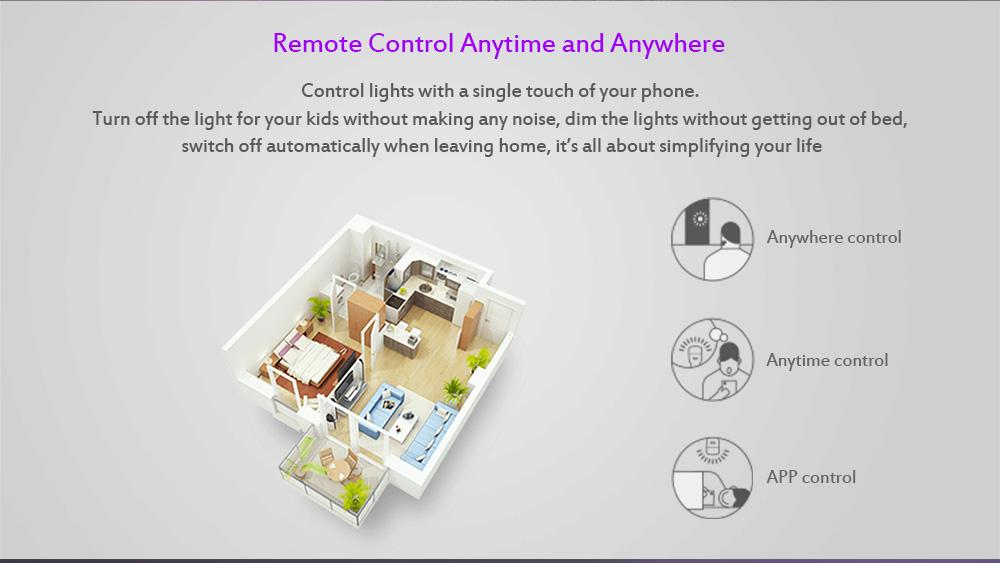 YEELIGHT YLDP06YL 10W RGB E27 Wireless WiFi Control Smart Light Bulb