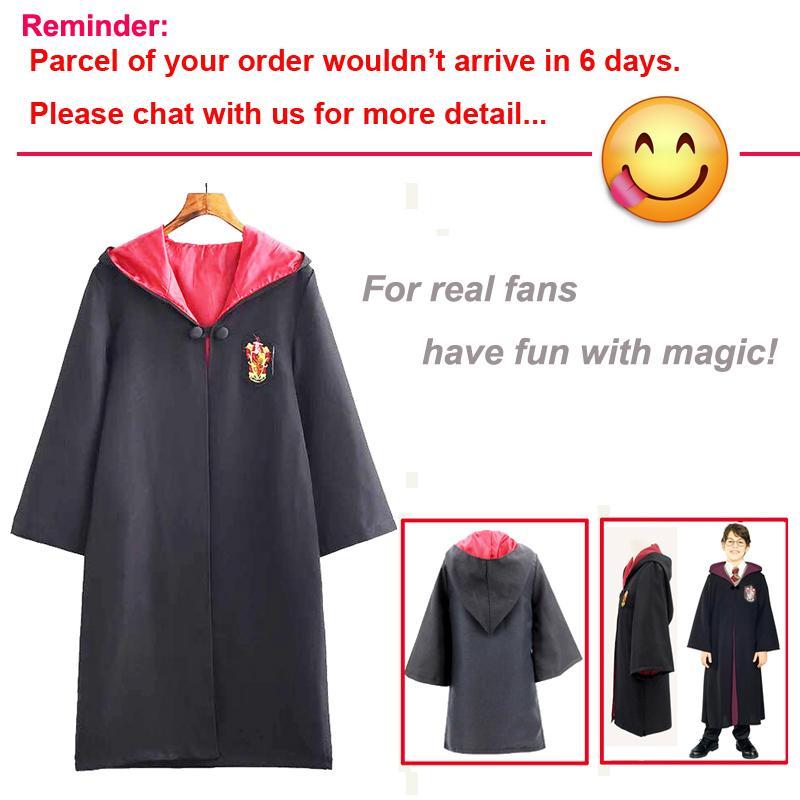 ฮาโลวีนชุดคอสเพลย์เครื่องแต่งกาย Harry Potter เสื้อผ้ามีฮู้ดเด็กผู้ใหญ่ Unisex เครื่องแต่งกายสีดำขนาดใหญ่จาก Bodyheight 110 ถึง 185 เซนติเมตร By Intelligent Store.