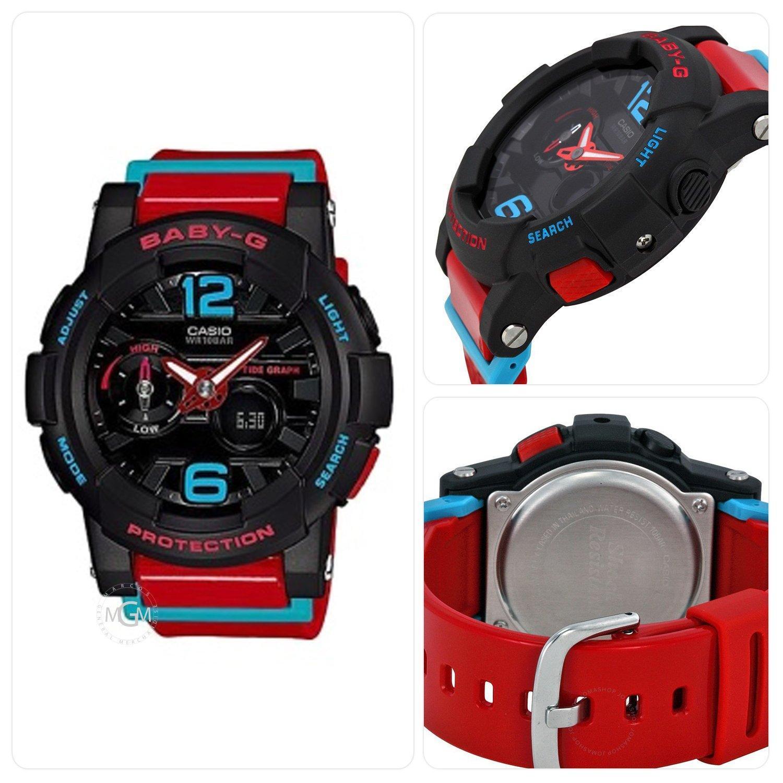 Casio Baby G Womens Black Resin Strap Watch Bga 180 1b Philippines 190 Red Oem Shock Resistant Ladies Sport