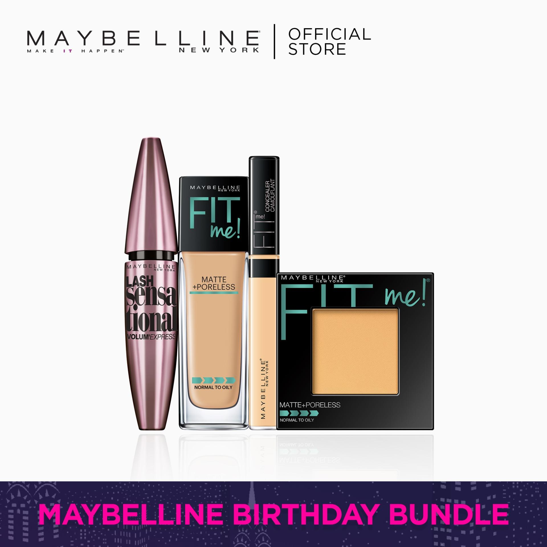 I Found My Fit: 228 Foundation + 220 Powder + 25 Concealer + Lash Sensational by Maybelline Fit Me Philippines