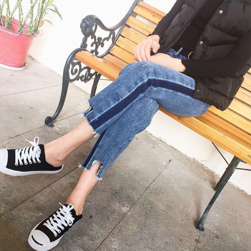 MM Celana Jeans Baru Musim Semi dan Musim Gugur untuk Meningkatkan Kode Longgar - 3
