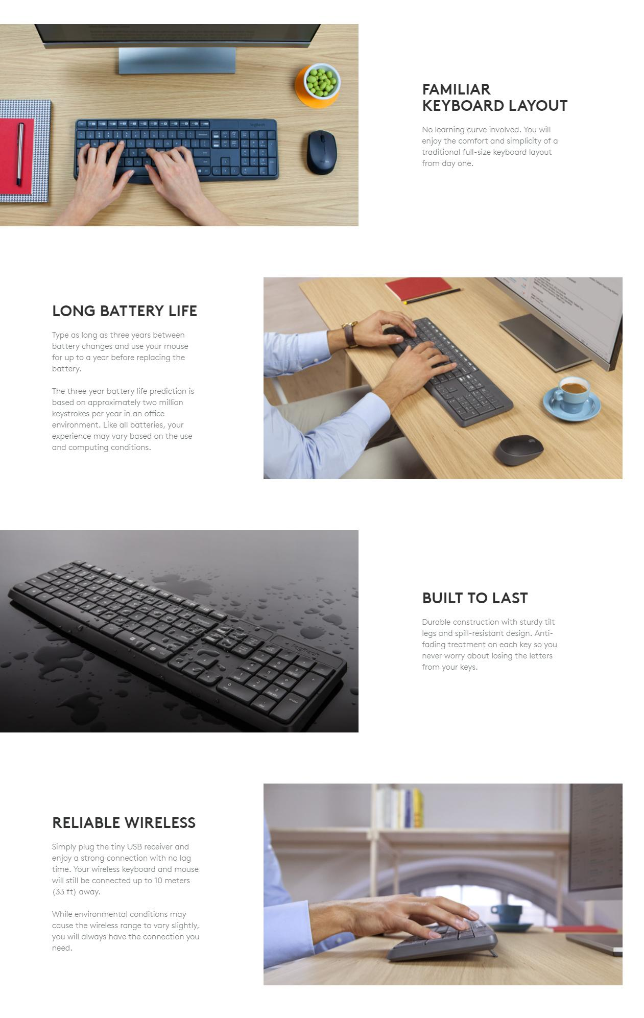 logitech mk235 wireless keyboard and mouse lazada ph. Black Bedroom Furniture Sets. Home Design Ideas