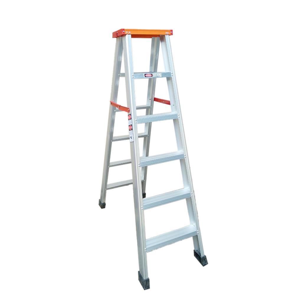Kruger A Type Aluminum Ladder, A 12106L (2x6 Steps)