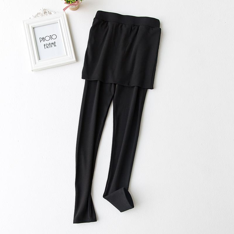MM Korea Modis Gaya Wanita Kulit Hitam Musim Semi atau Musim Gugur Rok Celana Legging (