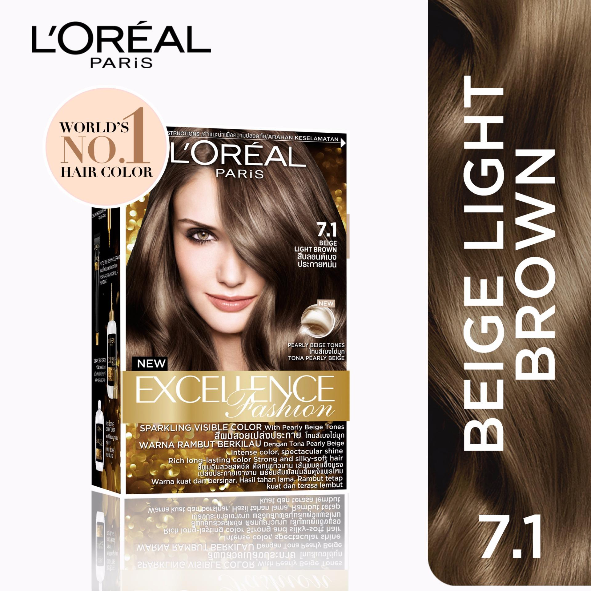 Hair color brands hair dye on sale prices set reviews in excellence fashion 71 beige light brown worlds no1 by l geenschuldenfo Image collections