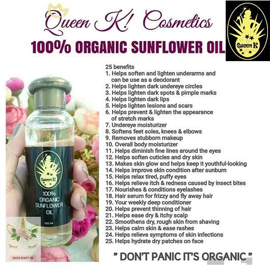 Queen K Sun Flower Oil 100ml Philippines