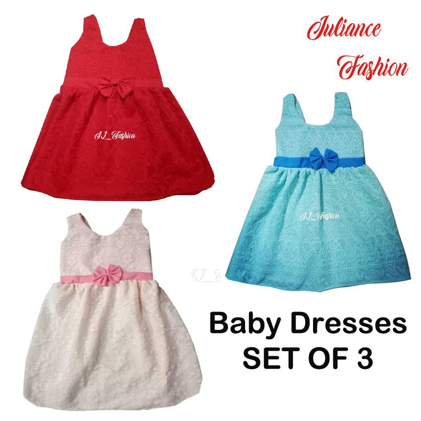 juliance infant dresses set of 3 4months to 1 year of age