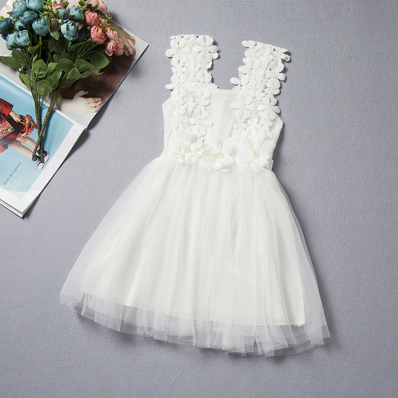 8b622b80ef911 Baby Kids Lace Flower Dress Summer Casual Princess Tutu Dress Birthday  Wedding Events Wear Baby Infant Outfits