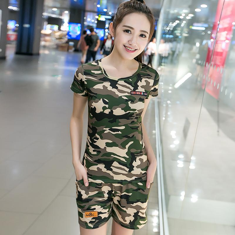 Seragam Militer Kaos Korea Fashion Style Perempuan Baru Slim