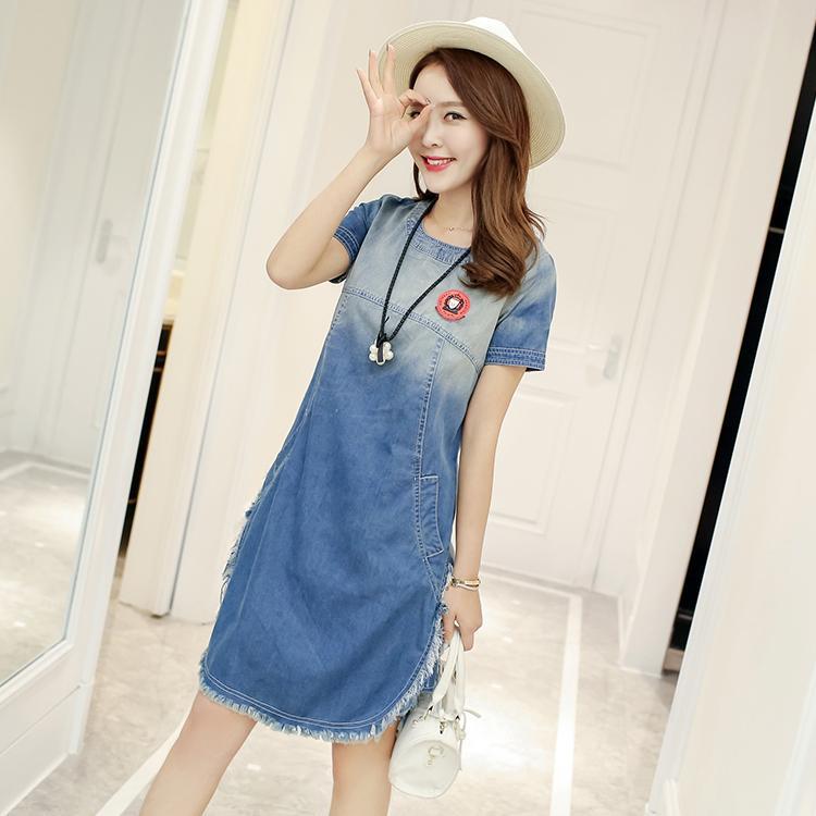 Caidaifei Korean-style Plus-sized slimming versatile dress base skirt (Hitam ).