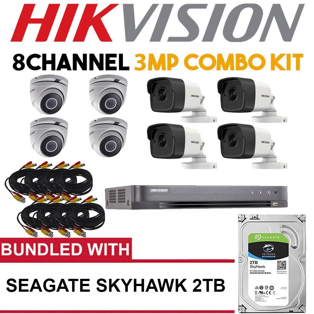 Hikvision 8 Channel 3mp Turbo Surveillance Kit With Seagate Skyhawk Hardisk Skyhawlk 1tb 2tb Hard Drive Philippines