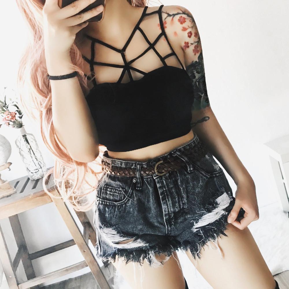 3c940d51293564 2019 GG Appealing Women s Sexy Solid Lace Bralette Bustier Crop Top Bra  Shirt Vest