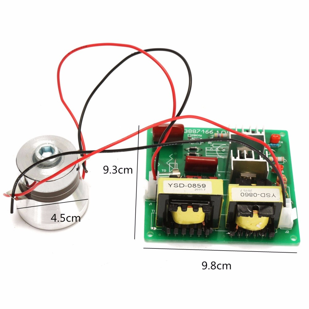 Ac110v 100w 40khz Ultrasonic Cleaner Power Driver Board W 60w 40k Circuit Medium Ultrasound Transducer Circuits Wiring Diagram Is As Follows Positive And Negative Respectively Output Coupled With The Shock Of Child Can