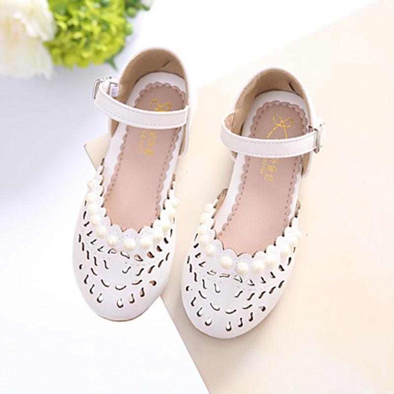 Anak prempuan Sepatu Kulit sepatu putri 2018 Musim semi dan musim panas  model baru Gaya Korea bf20154341