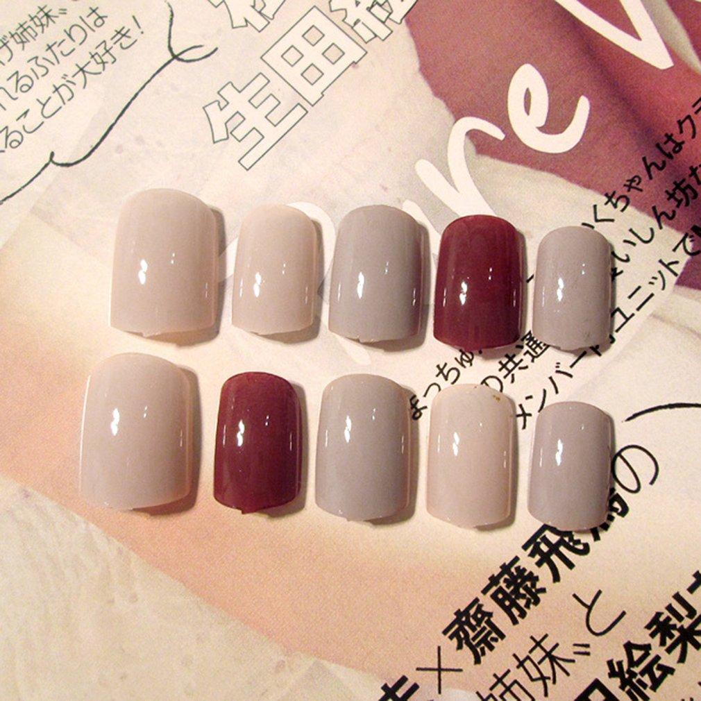 24Pcs Women Fake Nails Beauty Nail Art Tips False Nails DIY Manicure Kit B21 Philippines