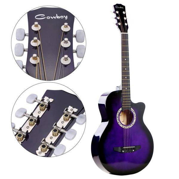 38  Acoustic Folk 6-String Guitar for Beginners Students Gift