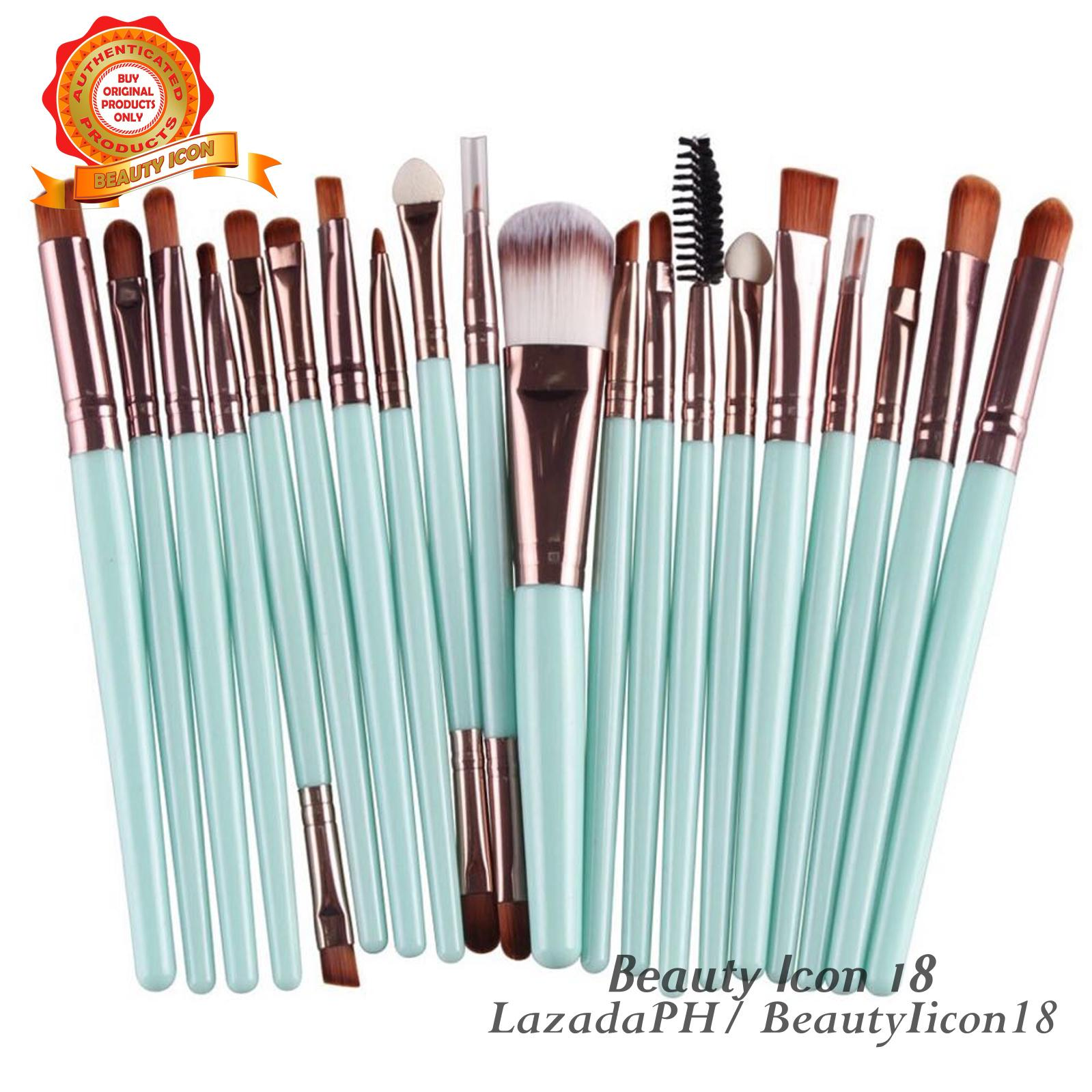 20 Pcs Professional Women Makeup Brush Sets ( Tiffany Green ) Philippines