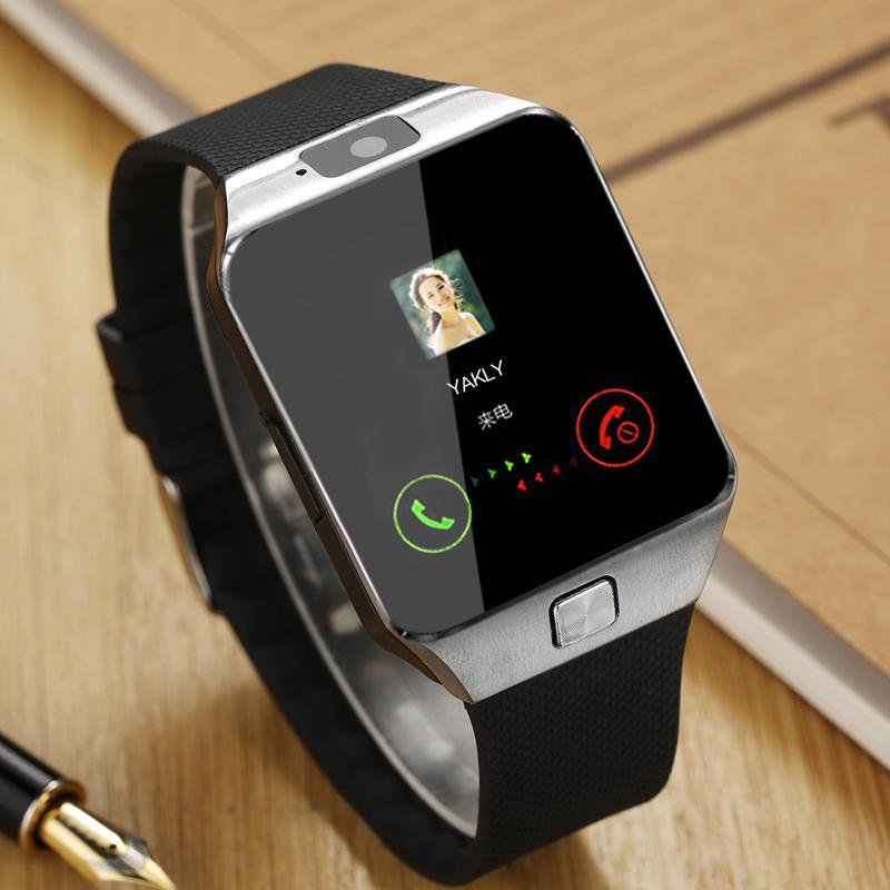 Bluetooth Smartwatch DZ09 Call/SMS Kamera Kartu SIM Cerdas Pergelangan Tangan Jam Tangan Ponsel untuk iPhone Samsung Huawei Android
